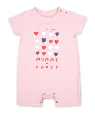 Mothercare PInk Mummy And Daddy I Love You Rompers