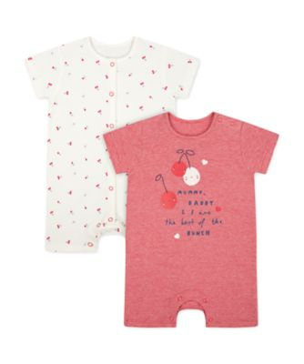 Mothercare Mummy And Daddy Heart Romper - 2 Pack