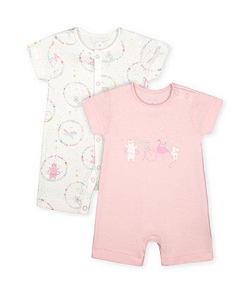 Mothercare Fashion Circus Animals Rompers - 2 Pack