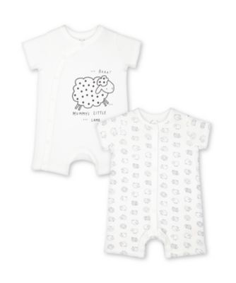 Mothercare Mummy'S Little Lamb Rompers - 2 Pack