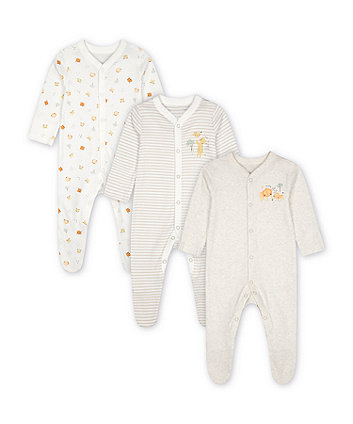Mothercare Fashion Circus Sleepsuits - 3 Pack