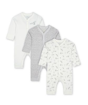 Mothercare Little Leopard Footless Sleepsuits - 3 Pack