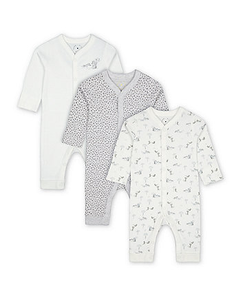 Mothercare Fashion Leopard Sleepsuits - 3 Pack
