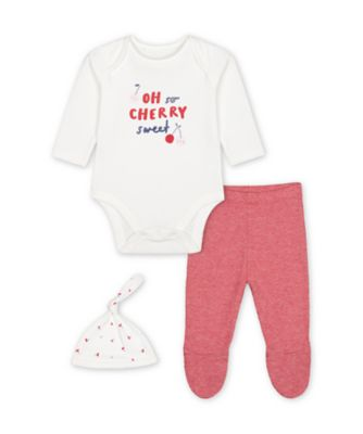 Mothercare Girls Mummy And Daddy Heart 3 Pieces Set
