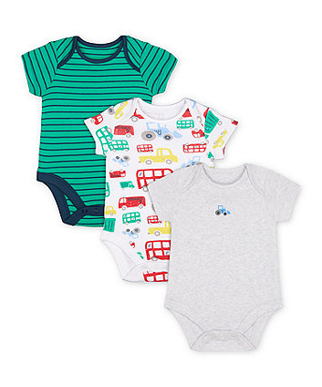 Mothercare Let's Go! Bodysuits - 3 pack