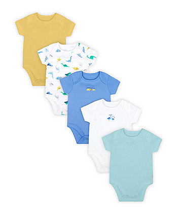 Mothercare Fashion Mummy And Daddy Heart Bodysuits - 5 Pack