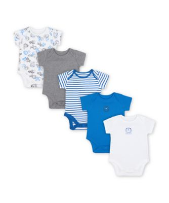 Mothercare Wild One Short Sleeve Bodysuits - 5 Pack