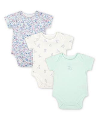 Mothercare Little Bunny Short Sleeve Bodysuits - 3 Pack