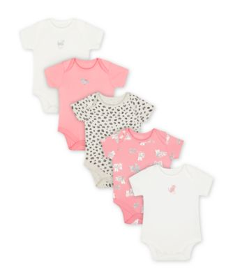 Mothercare Little Leopard Bodysuits - 5 Pack