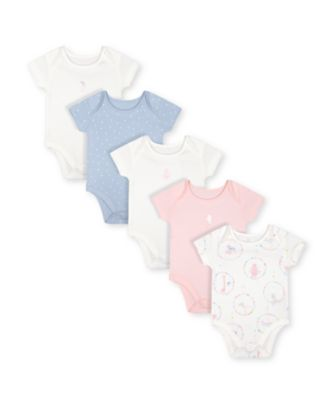 Mothercare Circus Short Sleeve Bodysuits - 5 Pack