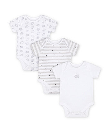 Mothercare Sleepy Sheep Bodysuits - 3 Pack