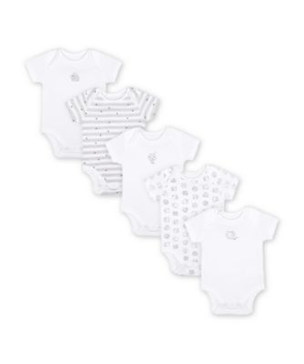 Mothercare Sleepy Sheep Short Sleeve Bodysuits - 5 Pack