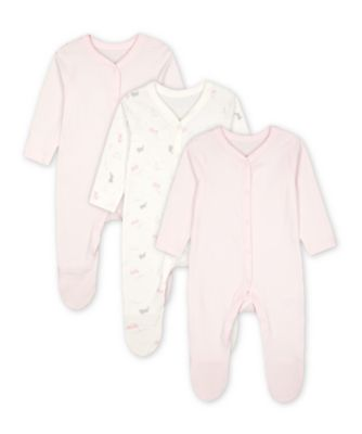 Mothercare My First Bunny Sleepsuits - 3 Pack