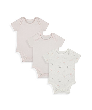 Mothercare My First Bunny Bodysuits - 3 Pack