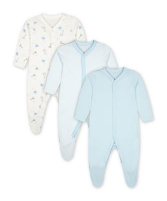 Mothercare My First Safari Sleepsuits - 3 Pack