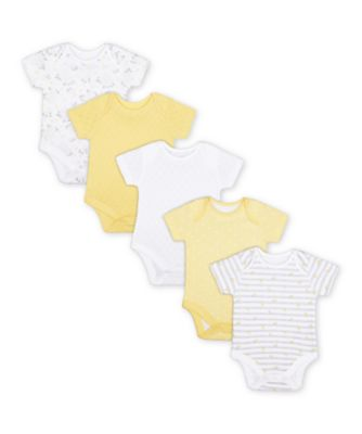 Mothercare Floral Short Sleeve Bodysuits - 5 Pack