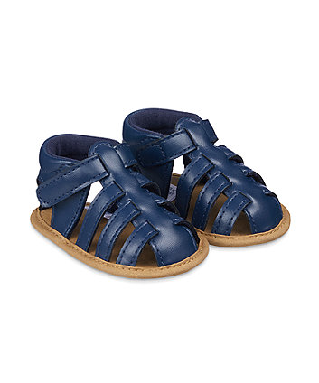 Mothercare Navy Fisherman Baby Sandals