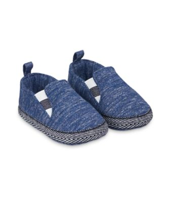 Mothercare Navy Marl Jersey Pram Shoes