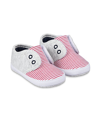 Mothercare Striped Pram Shoes