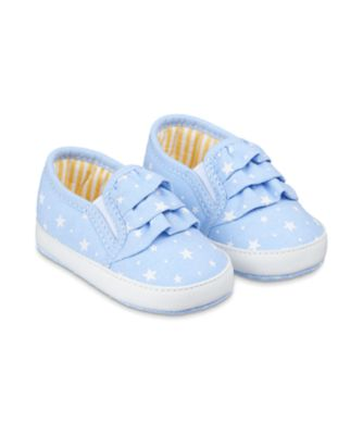Mothercare Chambray Star Canvas Pram Shoes