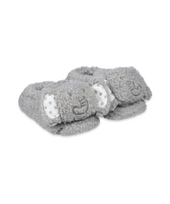 Mothercare Grey Novelty Elephant Slippers