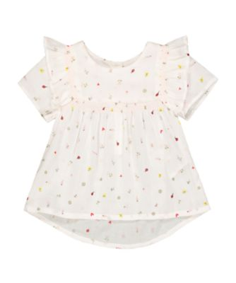 Mothercare Soft Energy Woven White Spring-Garden Print Blouse