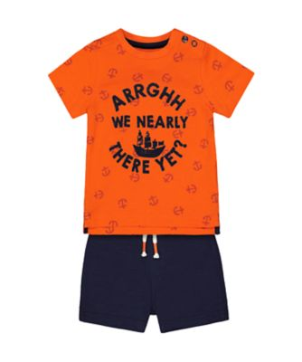 Mothercare Statement Arrghh We Nearly There T-Shirt And Shorts Set