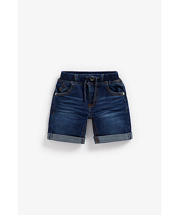 Mothercare Denim Shorts - Dark-Wash