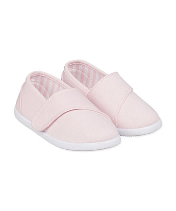 Mothercare Pink Canvas Trainers