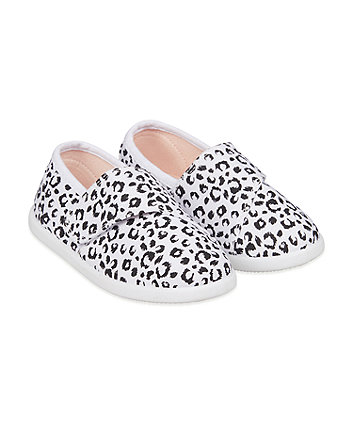 Mothercare Animal Print Canvas Pumps