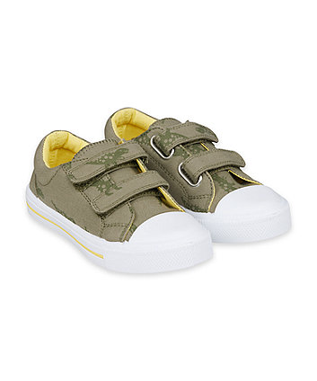 Mothercare Dino Canvas Trainers
