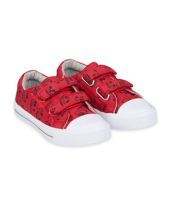 Mothercare Fire Engine Canvas Trainers