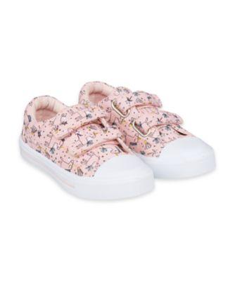 Mothercare Unicorn Double Velcro Canvas Trainers