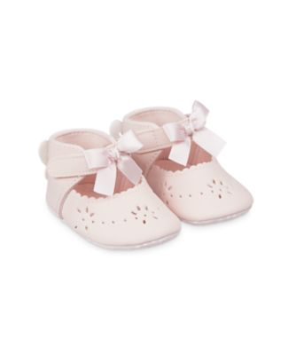 Mothercare Pink Butterfly Bow T-Bar Baby Pram Shoes