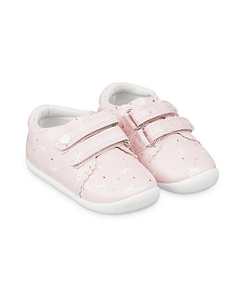 Mothercare Pink Bunny Trainer Crawler Shoes