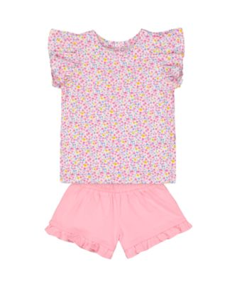 Mothercare Statement Ditsy T-Shirt And Pink Shorts Set