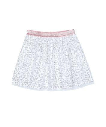 Mothercare Grey Leopard-Print Mesh Skirt