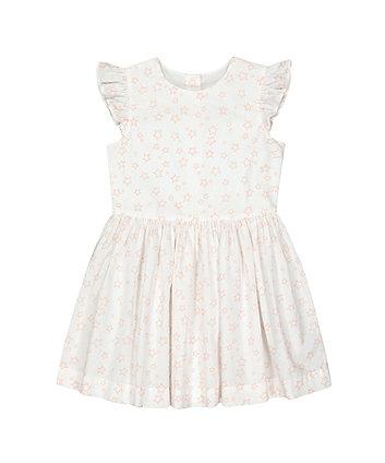 Mothercare White Star Woven Dress