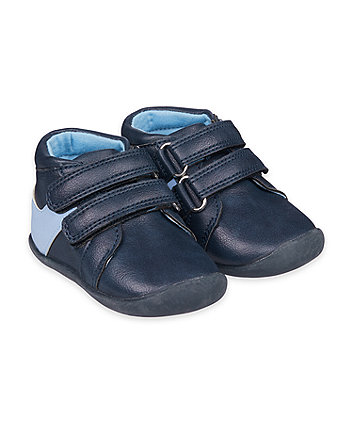 Mothercare Navy Crawler Shoes