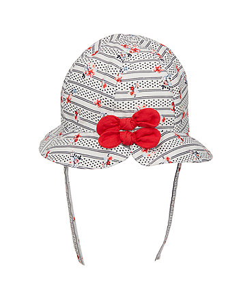 Mothercare Floral Woven Hat