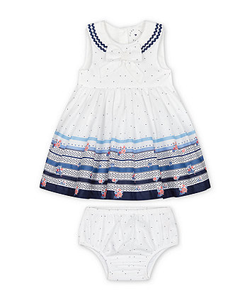 Mothercare Bow Occasion Dress With Knickers