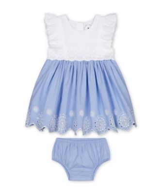 Mothercare Parasol Broderie Chambray Dress
