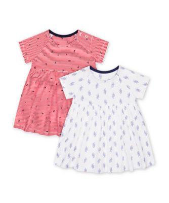 Mothercare Parasol Floral Romper Dresses - 2 Pack