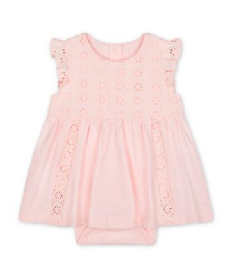 Mothercare Parasol Pink Broderie Romper Dress