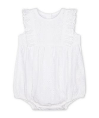 Mothercare Parasol White Broderie Rompers with Frill