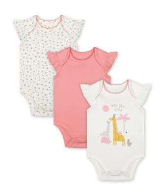 Mothercare Little Jungle Into The Wild Bodysuits - 3 Pack
