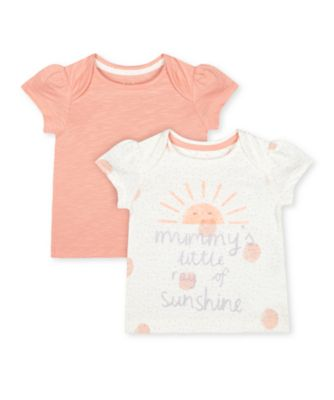 Mothercare Little Jungle Mummy'S Ray Of Sunshine T-Shirts - 2 Pack