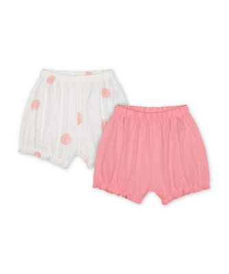 Mothercare Little Jungle Pink Spot Jersey Shorts - 2 Pack