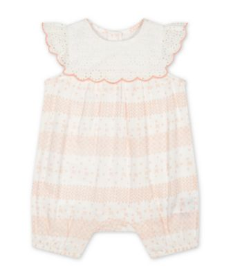 Mothercare Little Jungle Broderie Lace Rompers