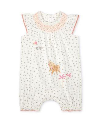 Mothercare Little Jungle Leopard Smock Neck Rompers